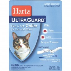 Hartz Ultra F&T Cat Collar White