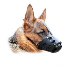 Leather dog muzzle plain